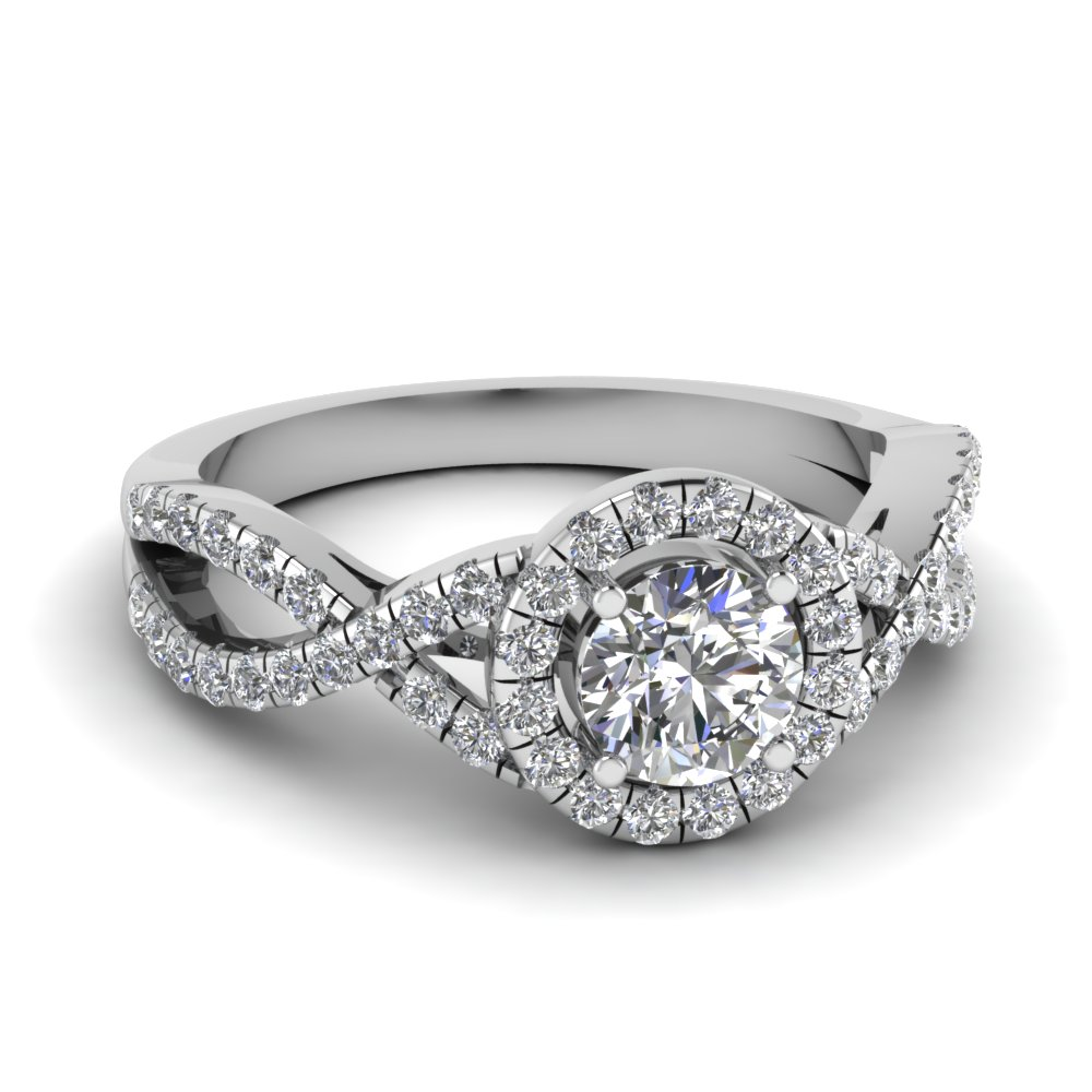 2 Carat Round Diamond Halo Ring