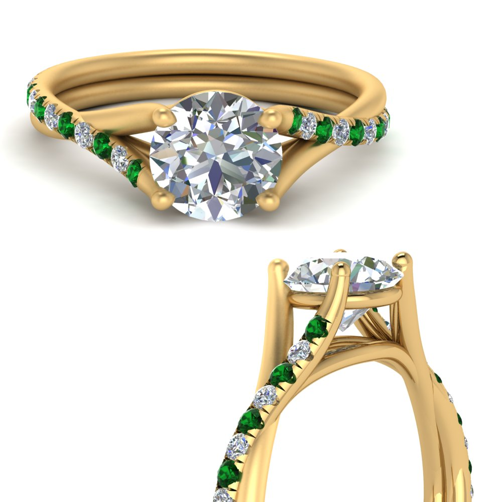 Cathedral Emerald Shank Ring