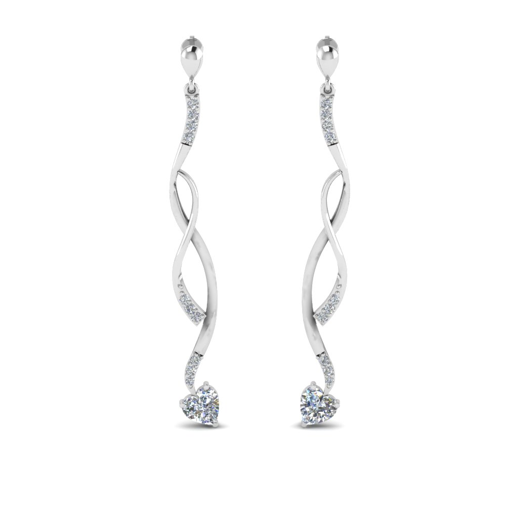 Twisted Drop Diamond Earring