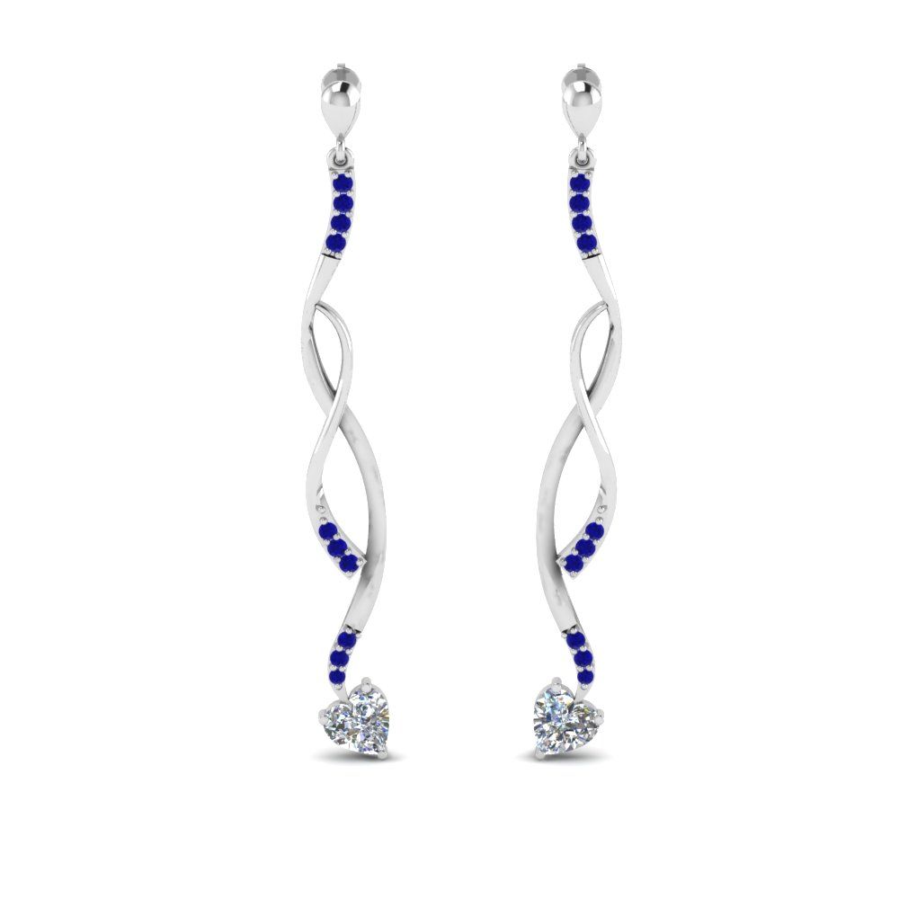 twisted-drop-heart-diamond-earring-with-sapphire-in-FDEAR8806GSABL-NL-WG