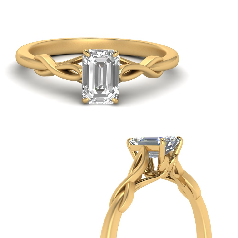Twisted Solitaire Moissanite Ring