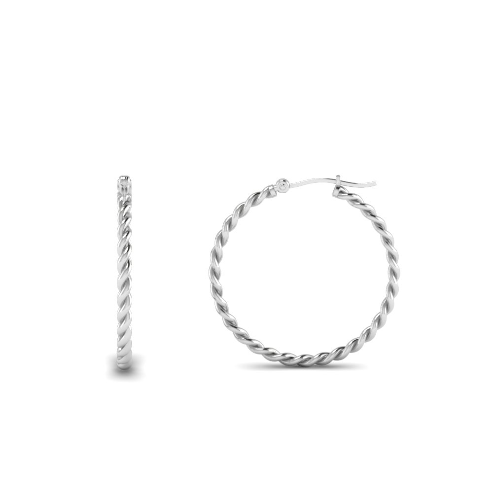 Twisted Style Hoop Earring