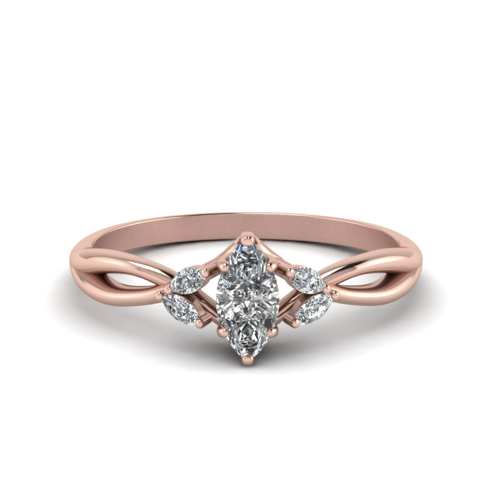 Petal Diamond Split Shank Ring