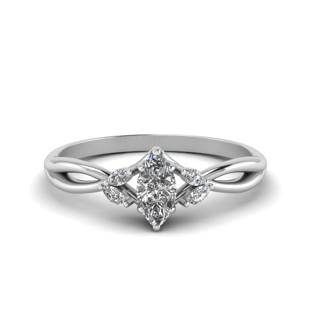 Marquise Cut Twisted Petal Ring