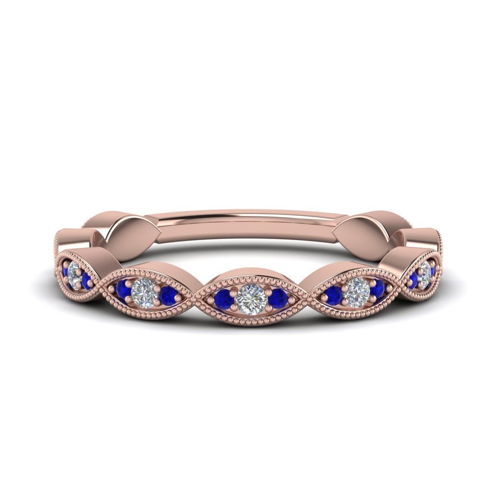Sapphire Wedding Diamond Band
