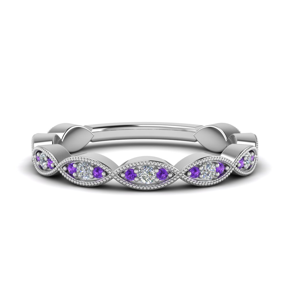 Unique Purple Topaz Band