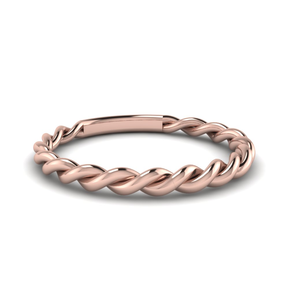 twisted rope wedding band in FD1087B NL RG
