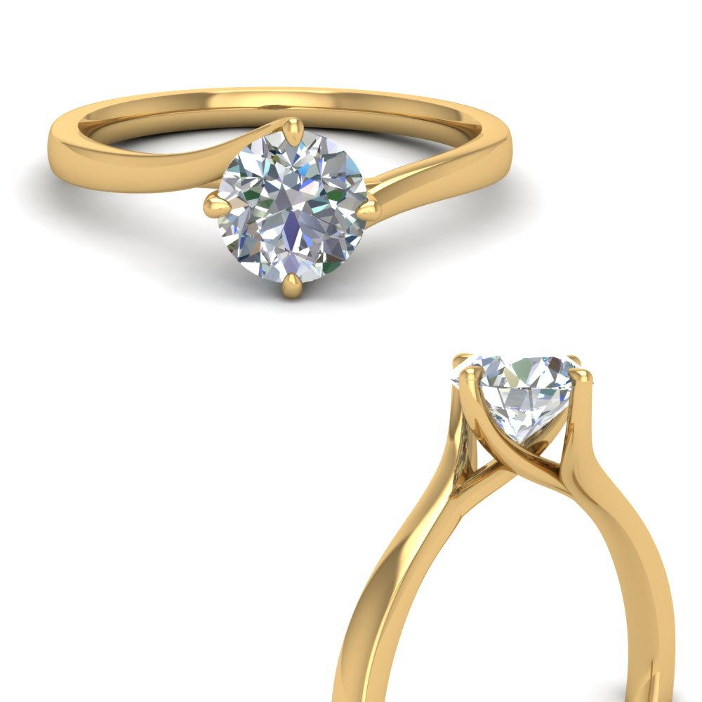 twisted round cut solitaire engagement ring in FDENR9009RORANGLE3 NL YG.jpg