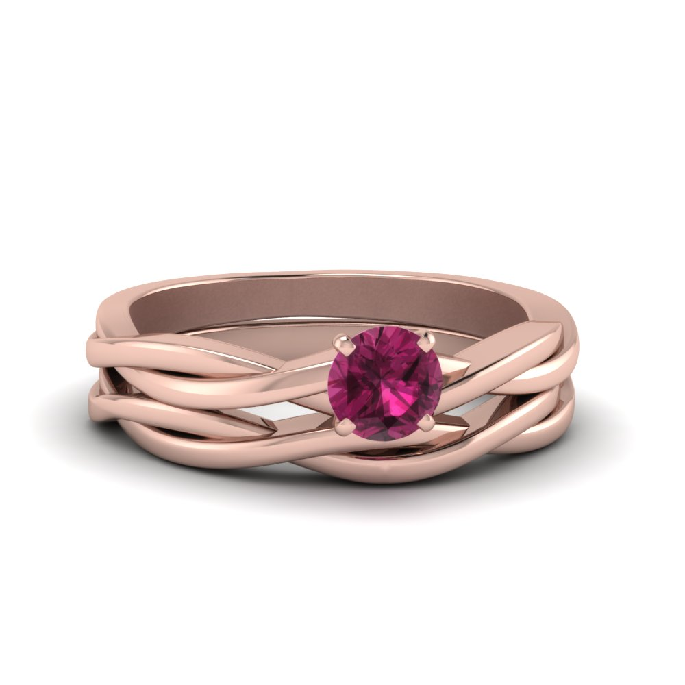 twisted-solitaire-pink-sapphire-wedding-set-in-FD8252ROGPS-NL-RG