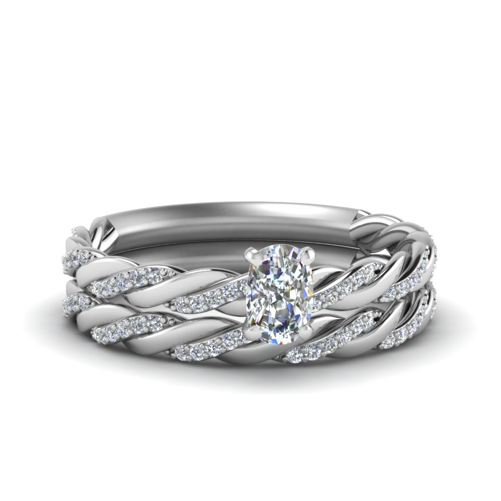 Twisted Vine Diamond Bridal Set