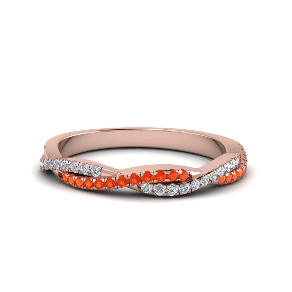 Twisted Vine Orange Topaz Band