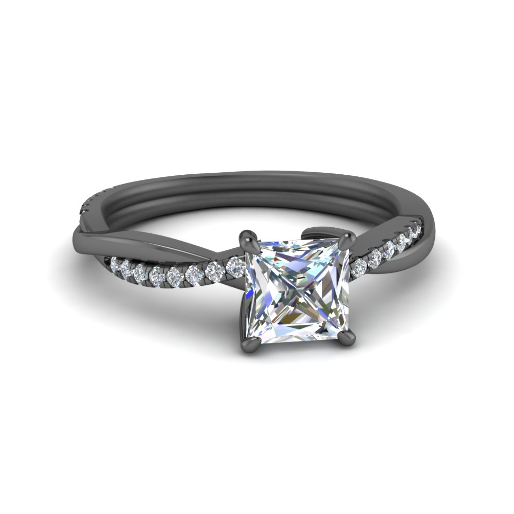 twisted vine diamond engagement ring in FD8253PRR BG
