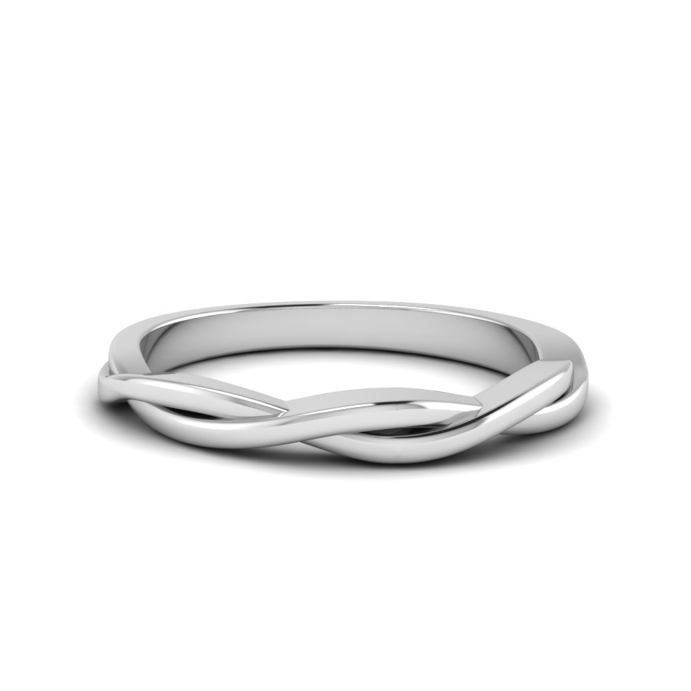 Twisted Vine White Gold Band
