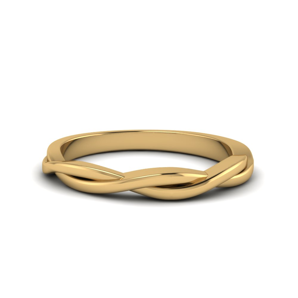 twisted vine gold band in 14K yellow gold FD8252B NL YG