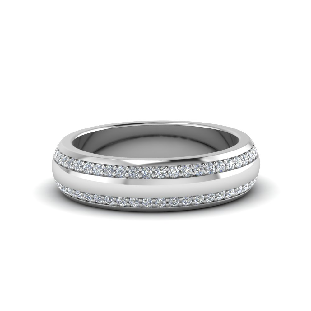 0.75 Ct. Two Row Male Diamond Eternity Band