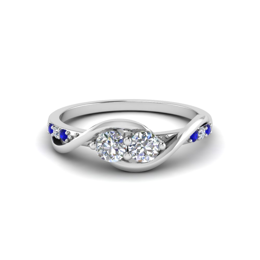 jewellery white diamond gold and sapphire ring aquamarine image