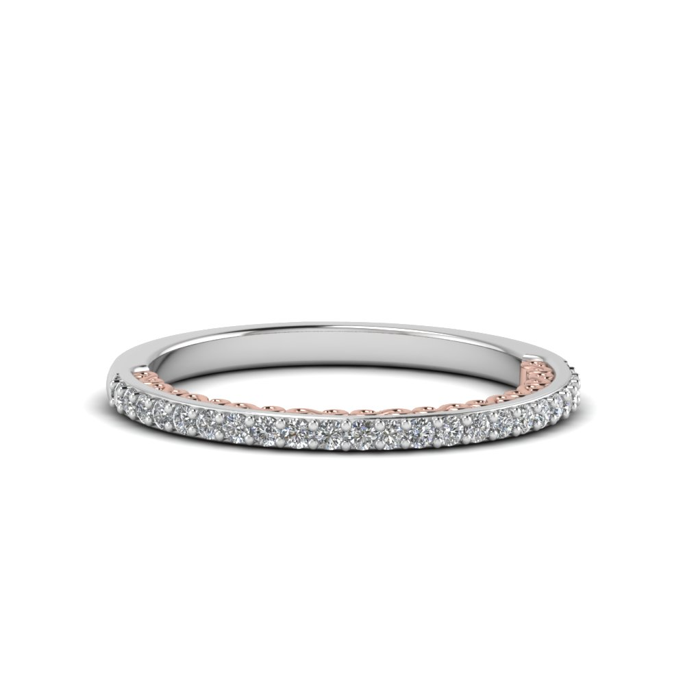 2 Tone Antique Diamond Band
