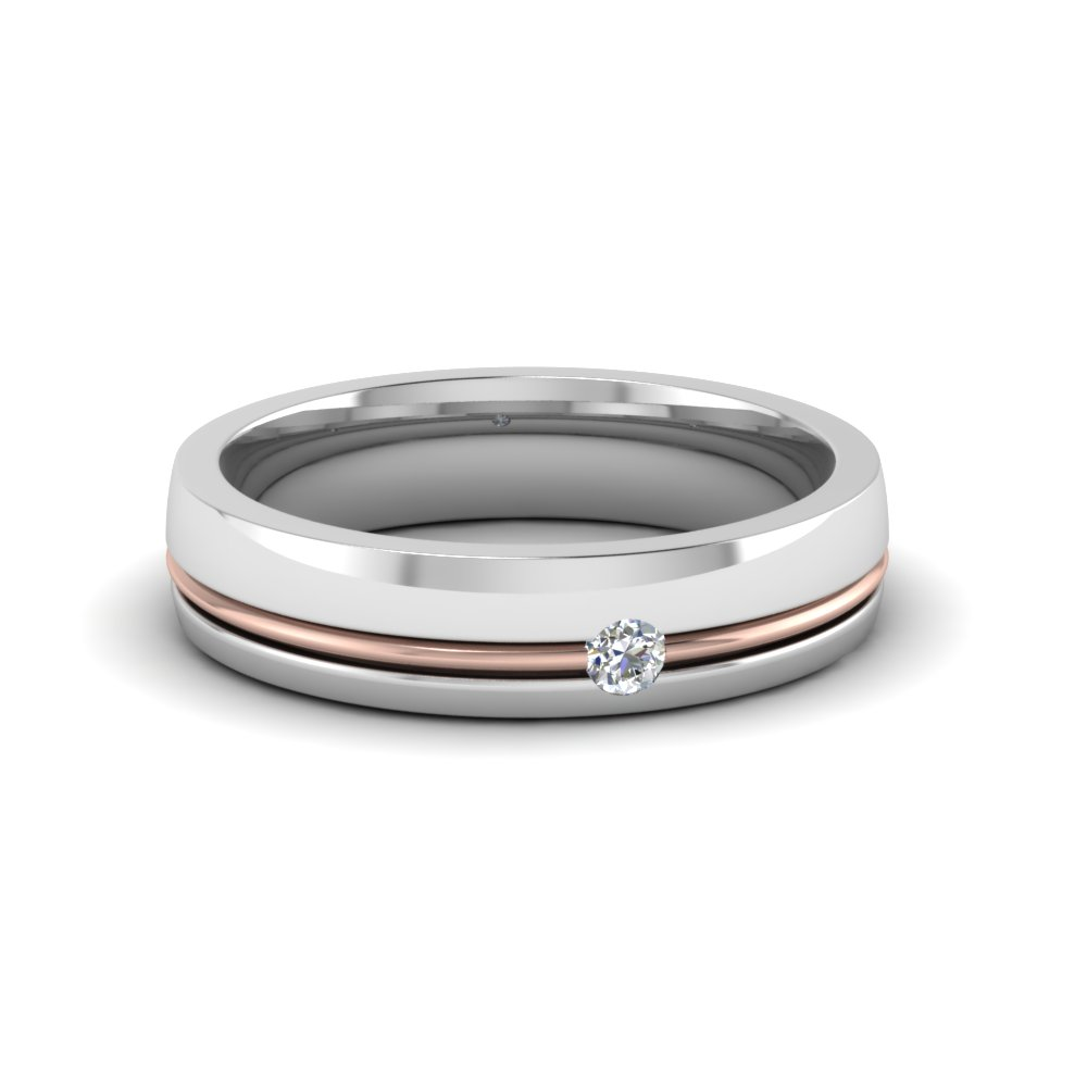 men pin wedding rings less gold features a tone for stylish band bands this sleek two s