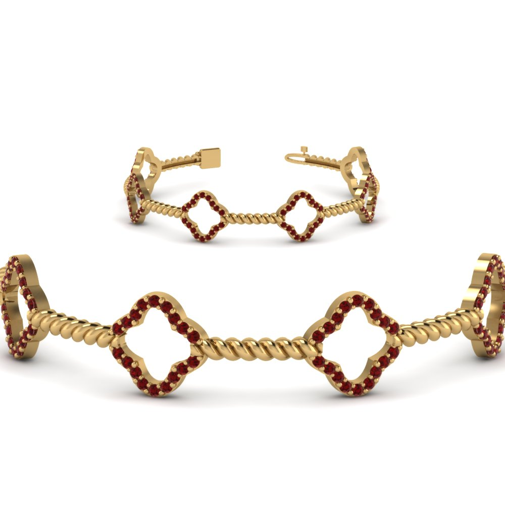 Twist Ruby Bracelet For Women
