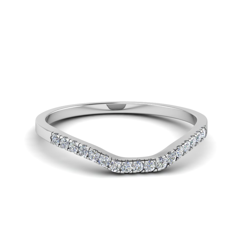 Contour Diamond Band In Platinum