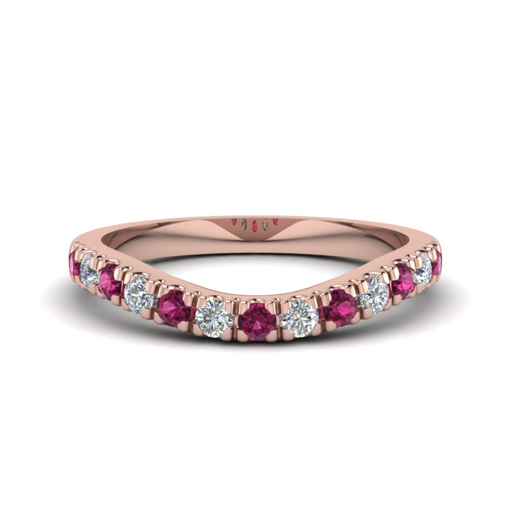 u prong diamond contour wedding band with pink sapphire in FDENS1218BGSADRPI NL RG.jpg