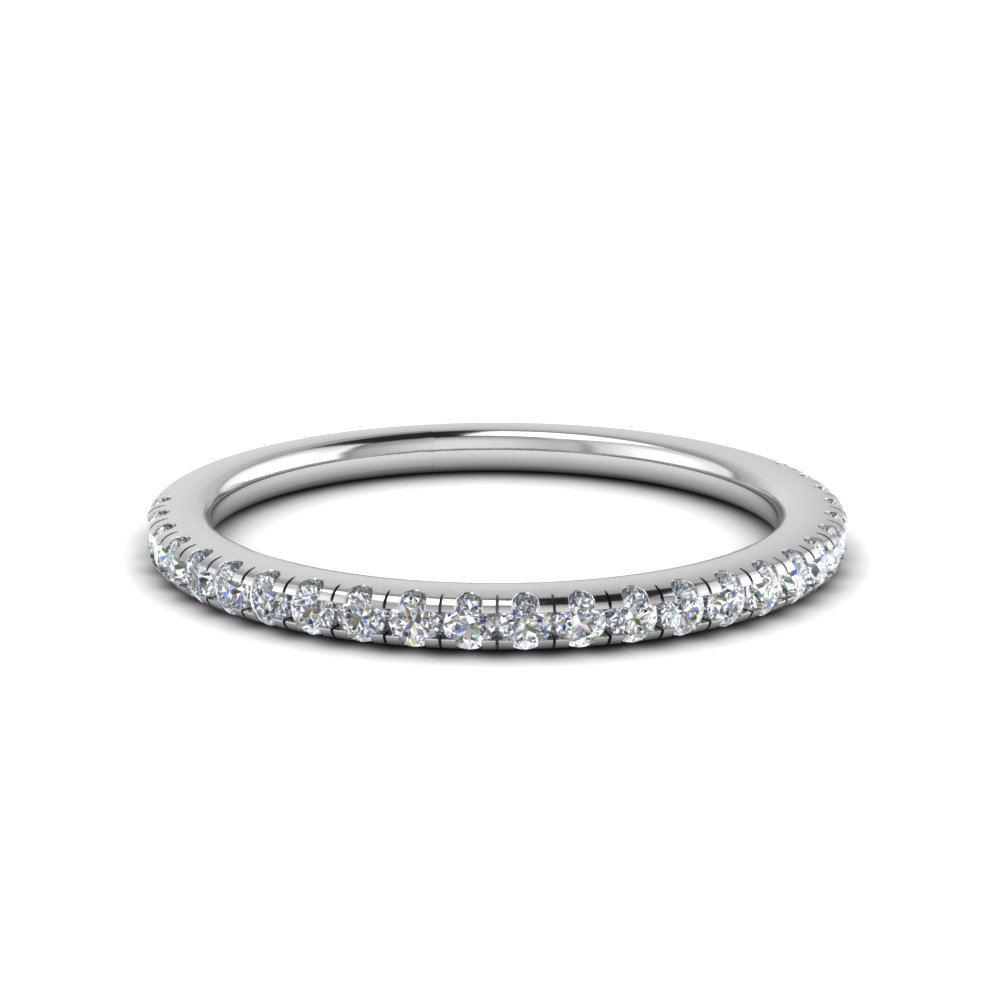 0.25 carat diamond u prong wedding band in FD8362B NL WG