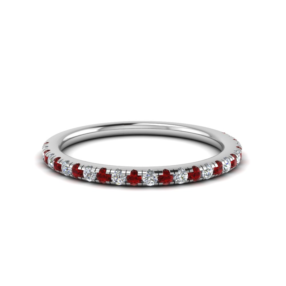 Platinum With Ruby Band