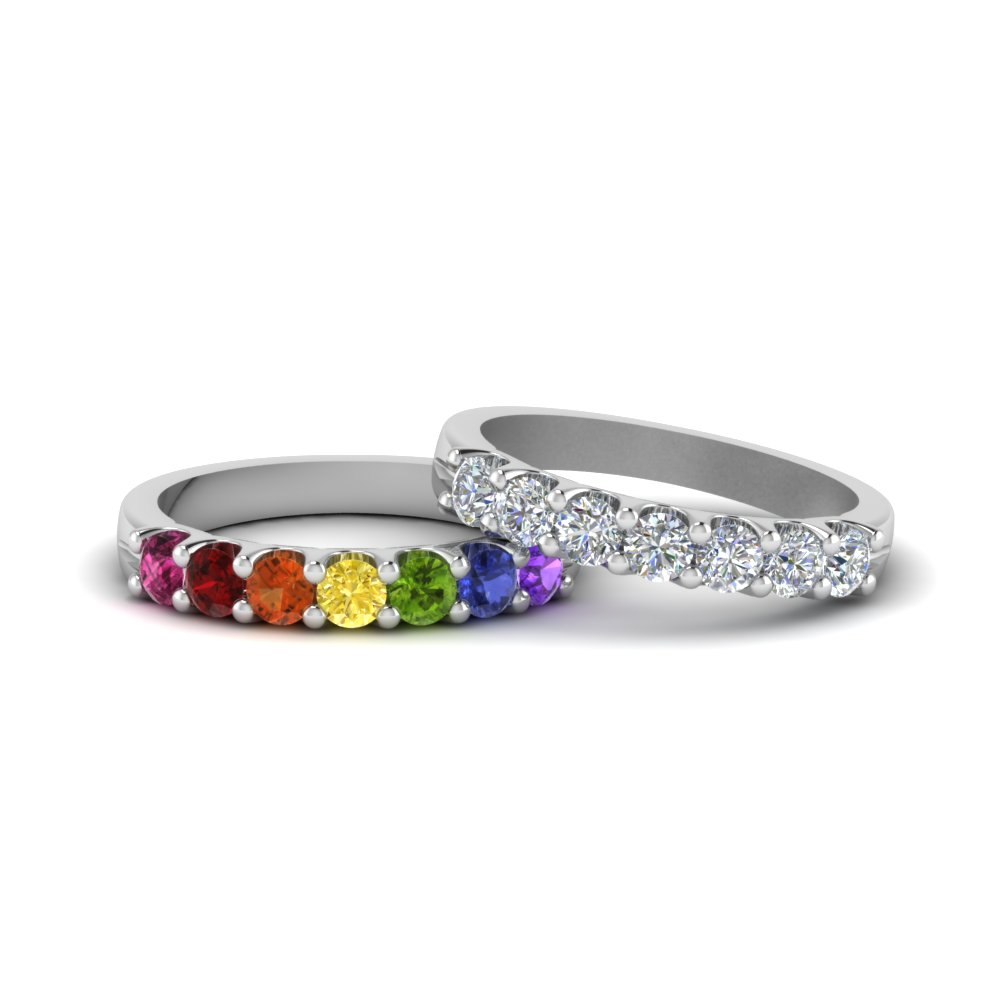 u prong lesbian rainbow diamond wedding band in FDLG5200BG NL WG.jpg