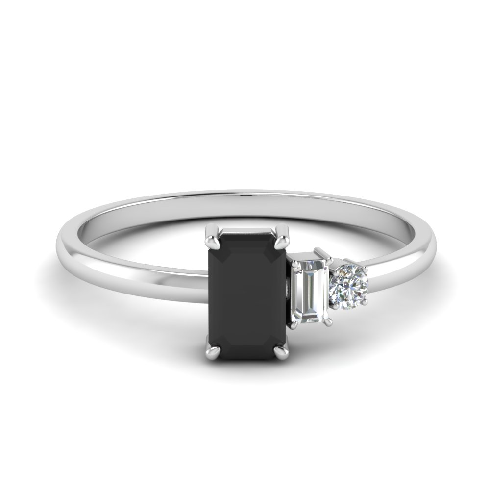 Unconventional Black Diamond Ring
