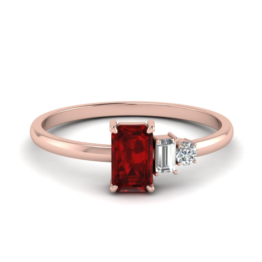 Unconventional Ruby Ring For Women