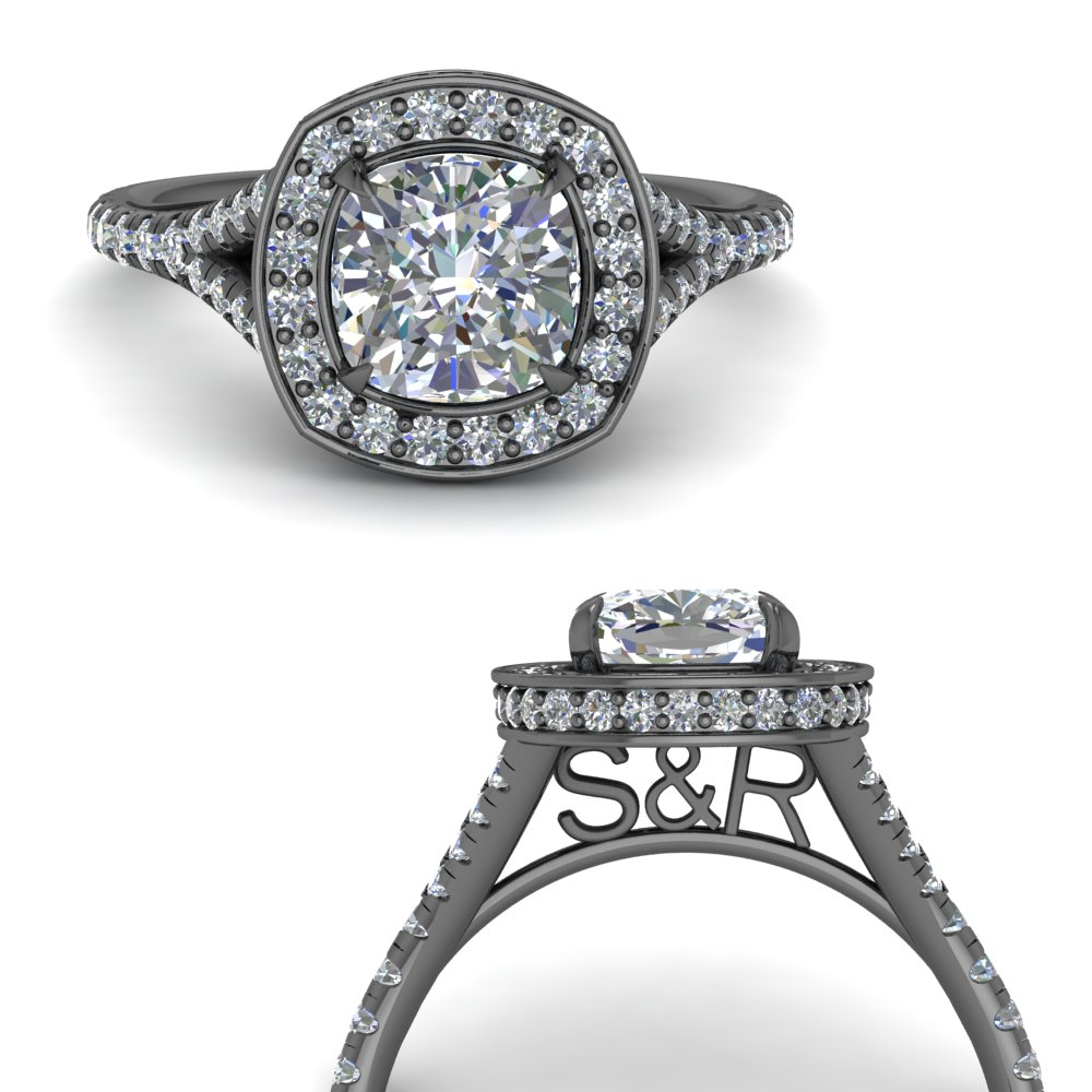 under halo personalized cushion cut diamond engagement ring in FD9152CURANGLE3 NL BG.jpg