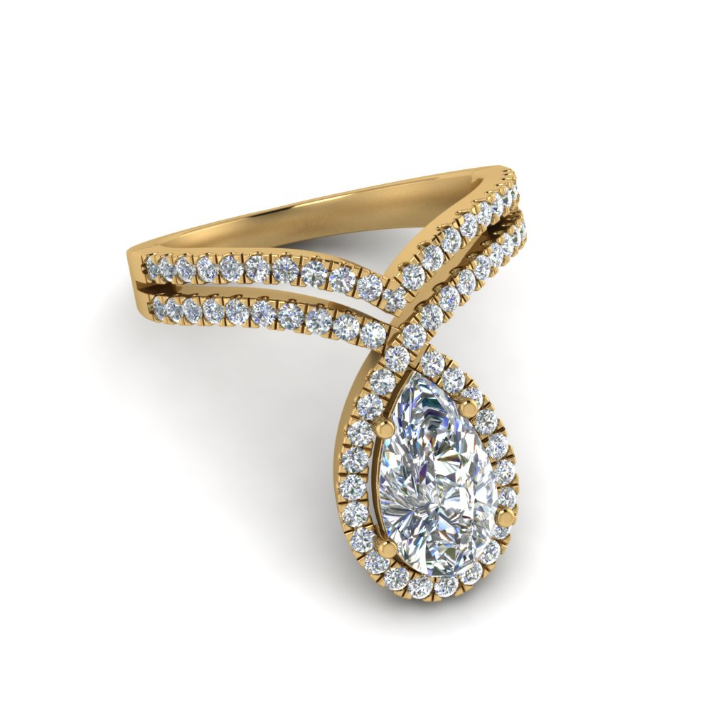 2 Ct. Pear Diamond Ring