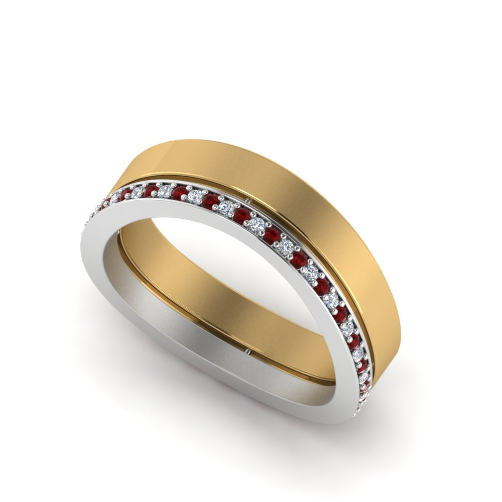 Ruby Unique 2 Tone Band