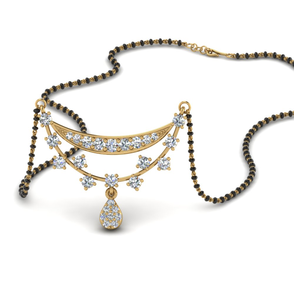 Unique Design Diamond Mangalsutra