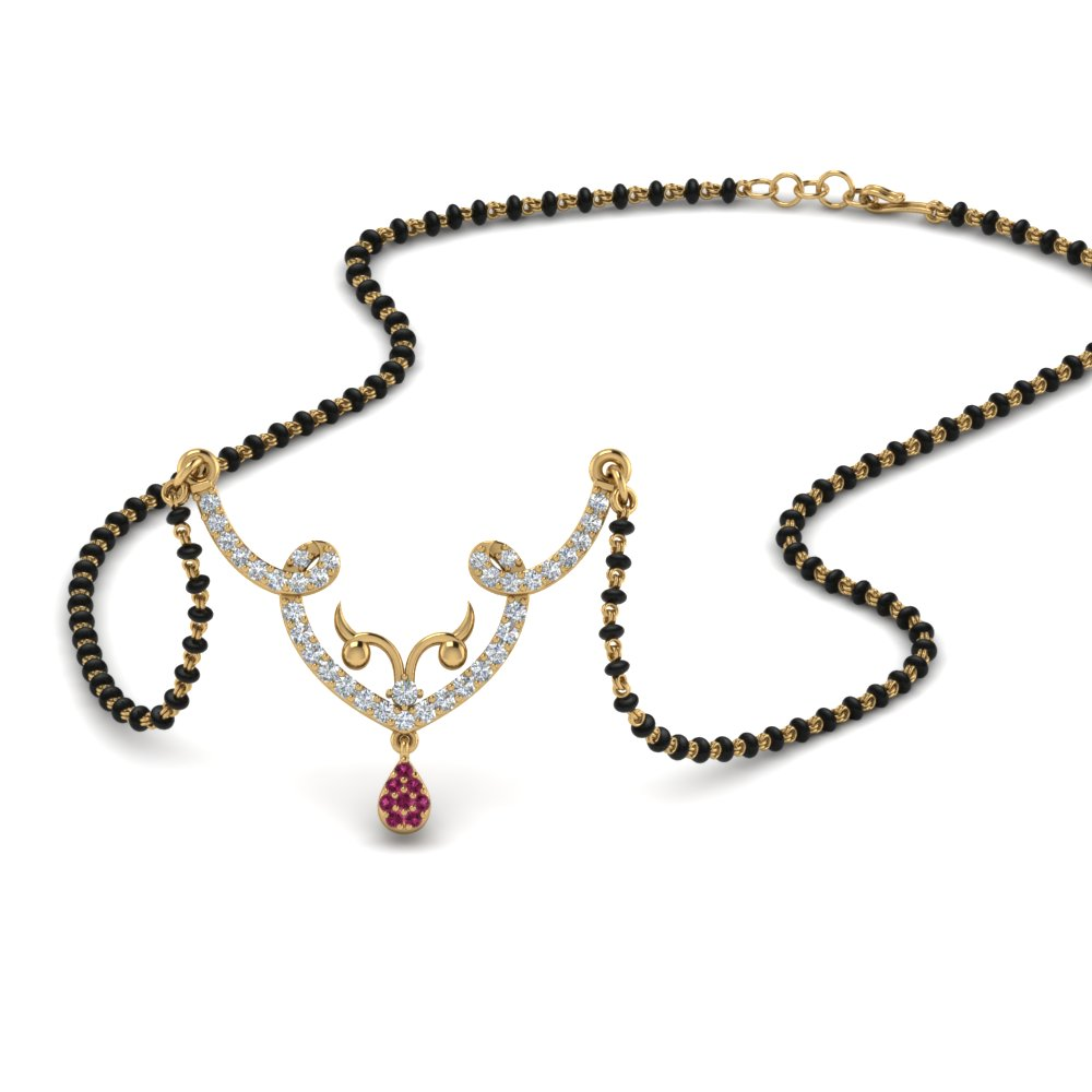 Pink Sapphire Mangalsutra Necklace