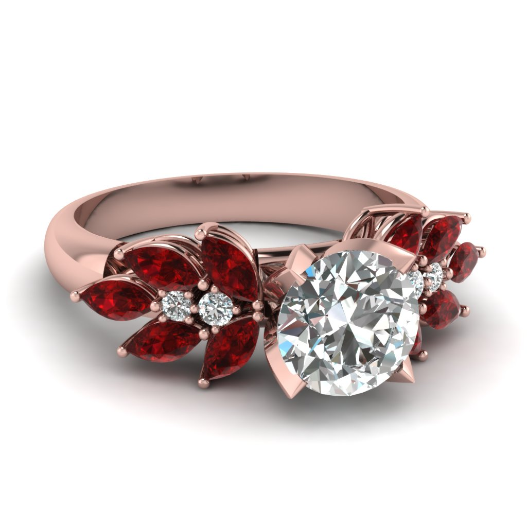 Accent Ruby Marquise Ring