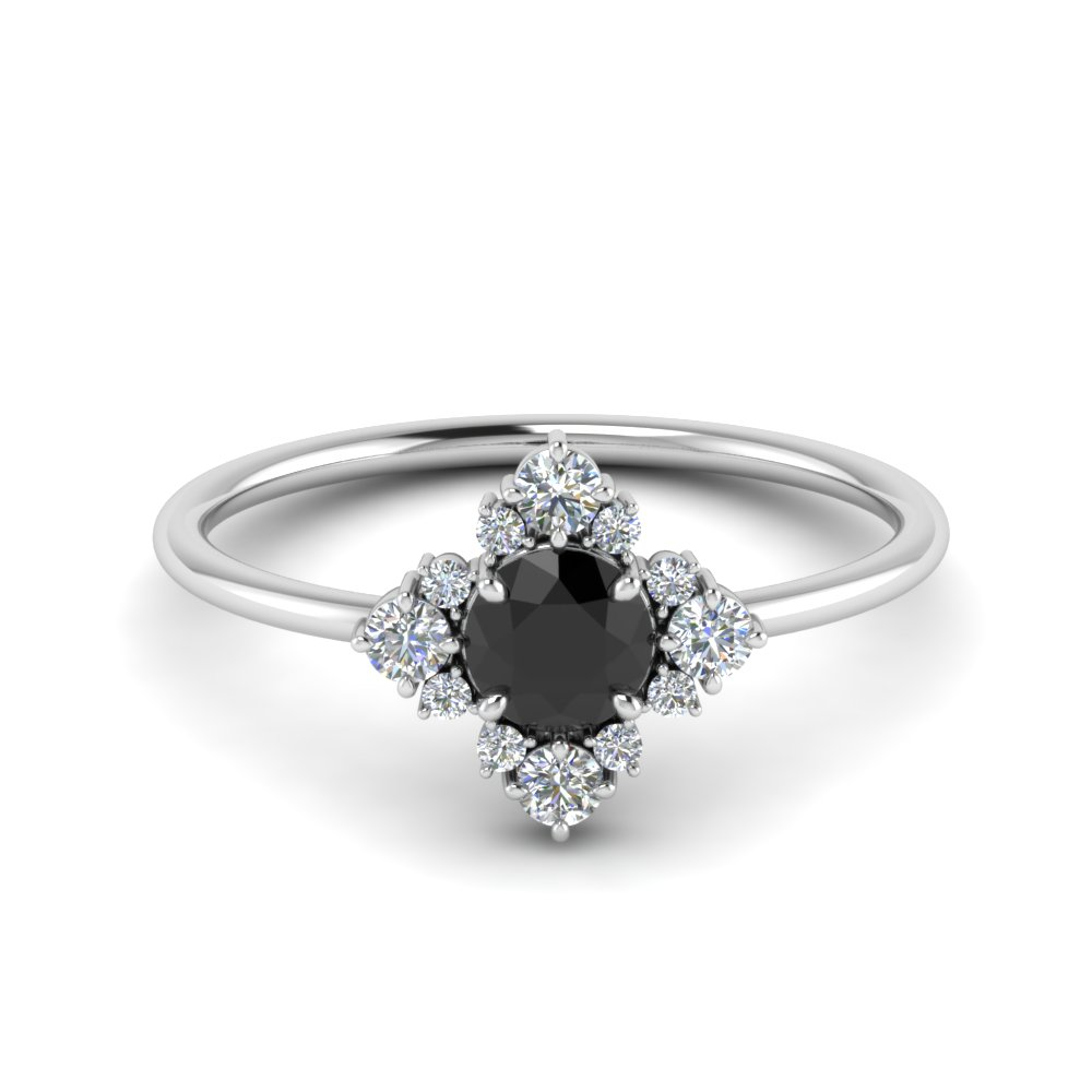 Unusual Black Diamond Ring