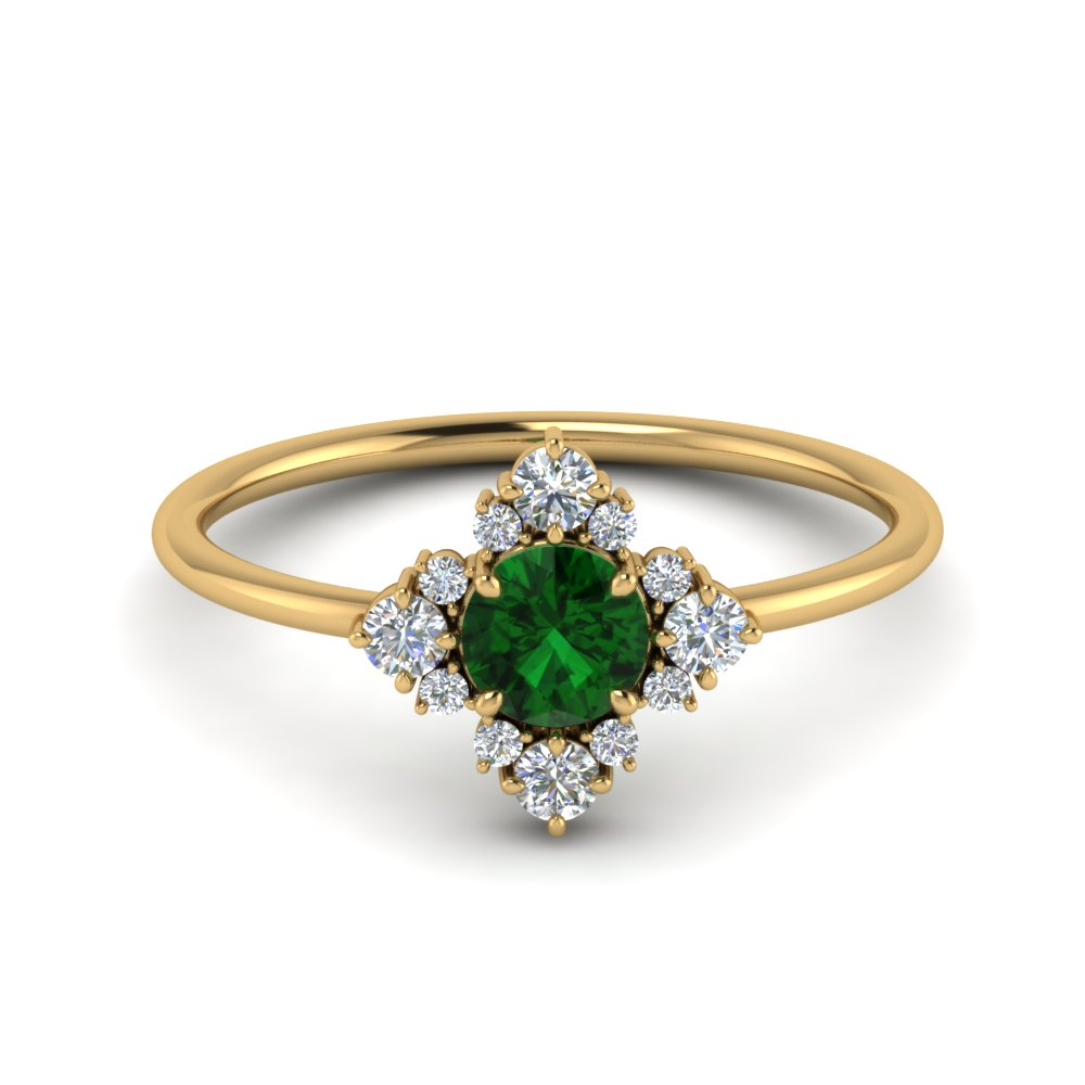 unusual-emerald-engagement-ring-with-diamonds-in-FD9103RORGEM-NL-YG