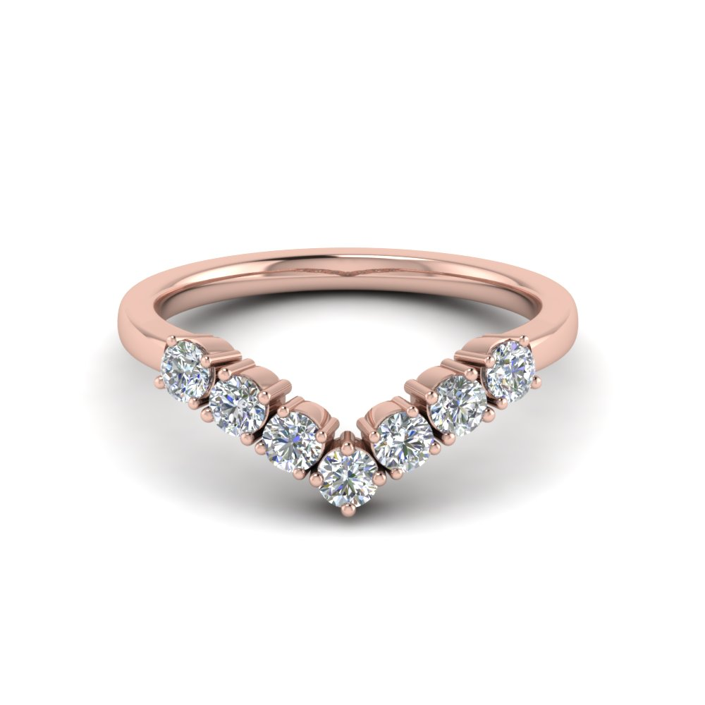 v design 7 diamond anniversary band in 14K rose gold FD8204B NL RG