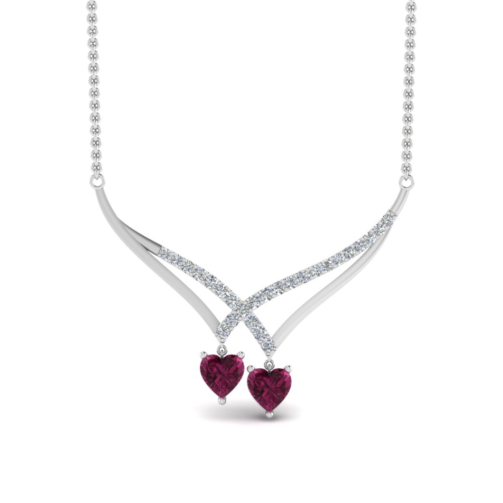 v-design-diamond-dual-drop-necklace-with-pink-sapphire-in-FDPD8832GSADRPIANGLE2-NL-WG
