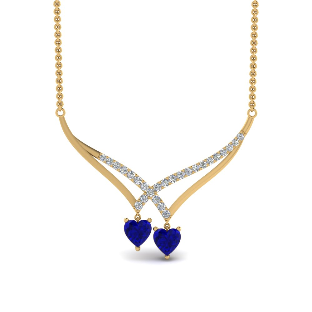 v-design-diamond-dual-drop-necklace-with-sapphire-in-FDPD8832GSABLANGLE2-NL-YG