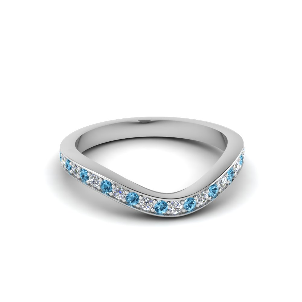 Topaz With Pave Diamond Band