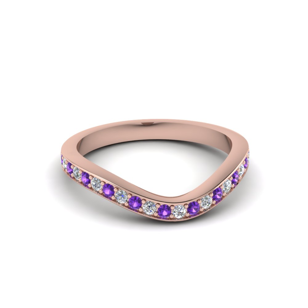 V Shaped Purple Topaz Band