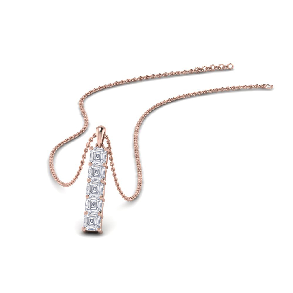 vertical bar diamond pendant gift in FDPD8414 NL RG
