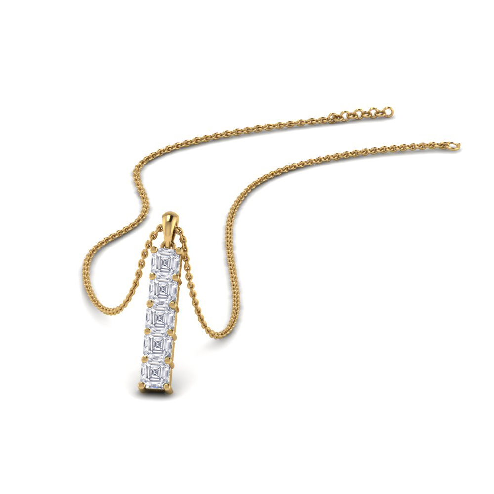 Vertical Bar Diamond Pendant