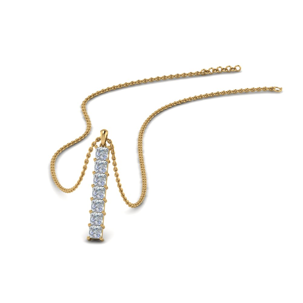 Princess Vertical Bar Necklace