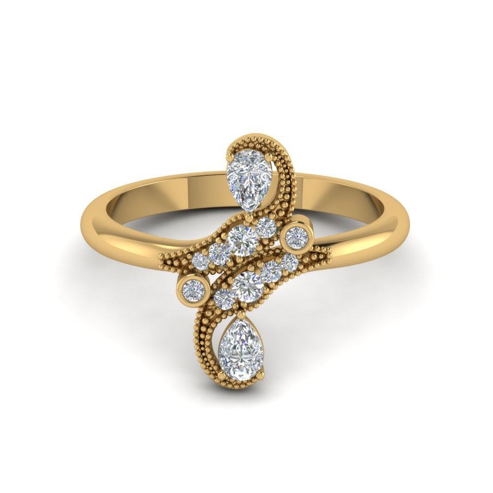 victorian diamond ring in FD8563 NL YG