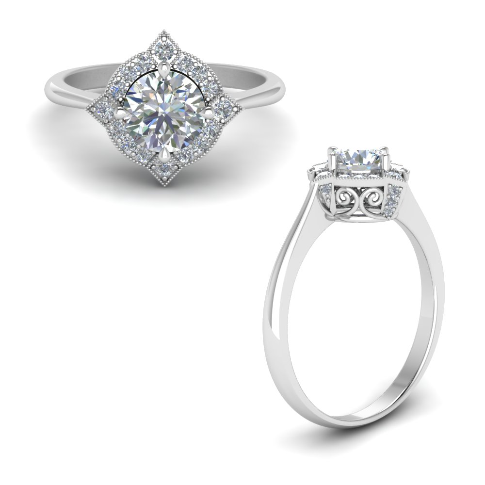 Affordable Flower Wedding Rings