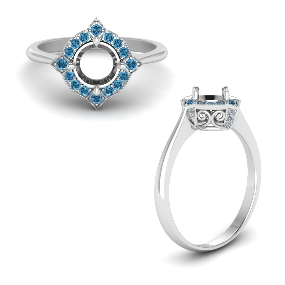 Victorian Halo Ring Setting