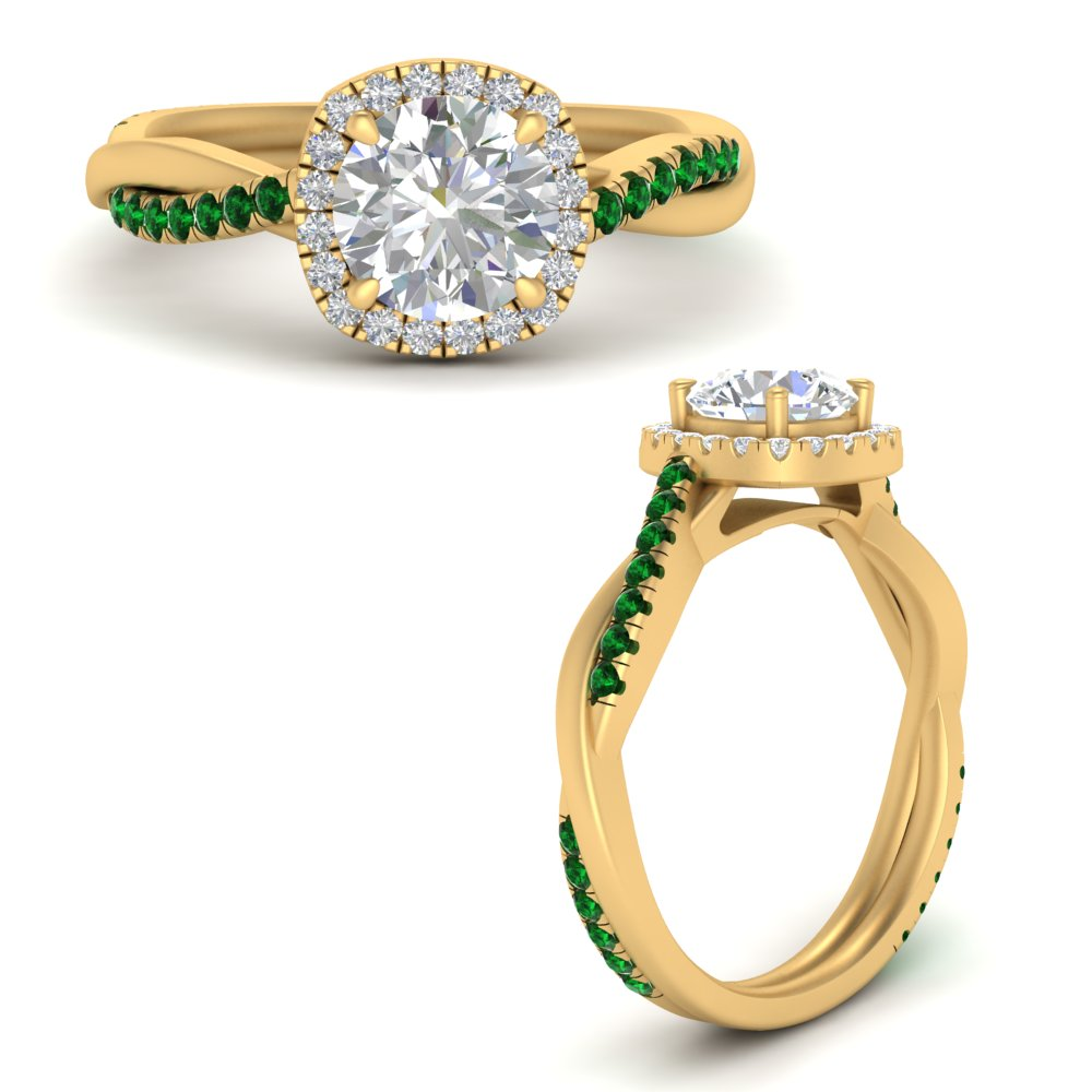 vine-round-halo-diamond-engagement-ring-with-emerald-in-FD9212RORGEMGRANGLE3-NL-YG